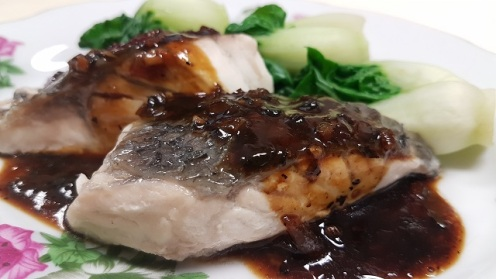 Steam Fish with Black Bean Sauce