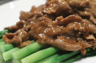 wok fried beef with sacha sauce