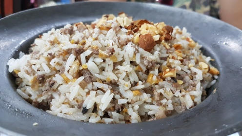 Black Olive Fried Rice with Almonds
