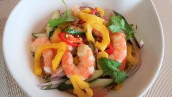 chicken prawn jackfruit salad