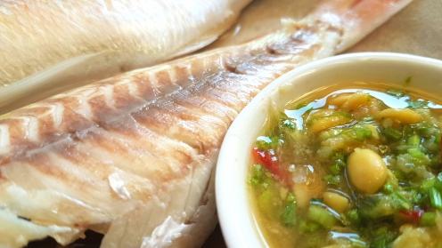 Steamed Barramundi with Pu Ning Fermented Beans Dip