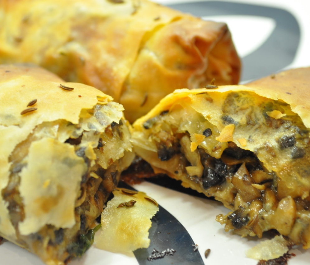 mushrooms filo pastry